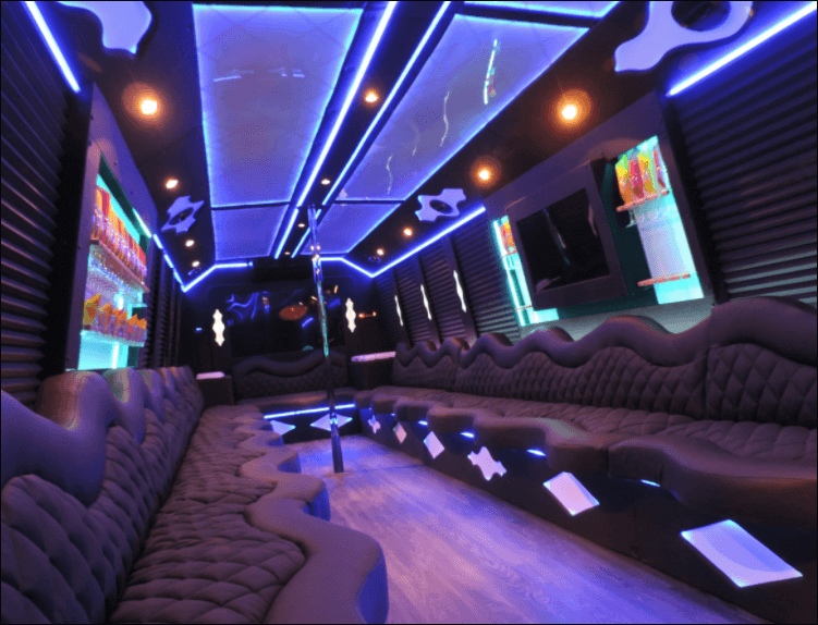 20 Passenger Party Bus Limo Inside