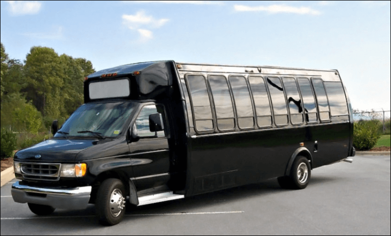 20 Passenger Party Bus Limo Black