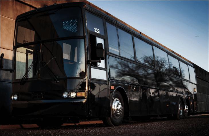50 Passenger Party Bus Limo Black
