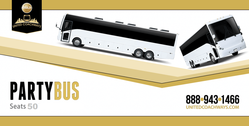 50 Passenger Party Bus Limo