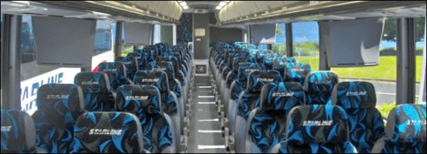 58 passenger charter bus