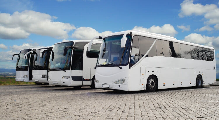 Rent a Charter Bus to Build Expo Expo Charter Bus