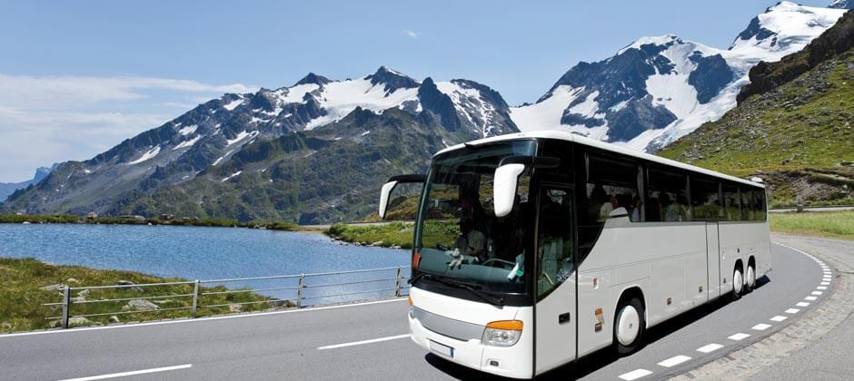 Rent a Charter Bus to American Bus Marketplace - ABA Expo Charter Bus