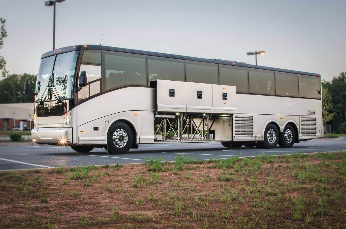 Rent a Charter Bus to Imprinted Sportswear Orlando - ISS Expo Charter Bus