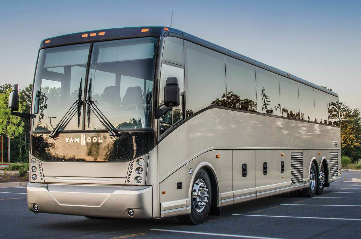 Rent a Charter Bus to Halloween & Attractions Show Expo Charter Bus